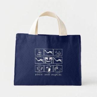 睡眠の飛び込みの洗浄および繰り返しを食べて下さい ミニトートバッグ