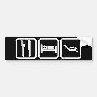 睡眠の飛び込みを食べて下さい バンパーステッカー
