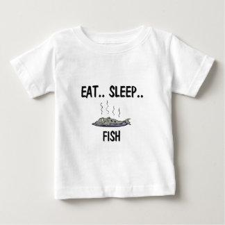 睡眠の魚を食べて下さい ベビーTシャツ