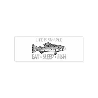 睡眠の魚-おもしろいなことわざ--を食べて下さい セルフインキングスタンプ