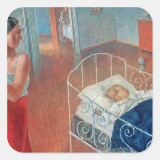 睡眠のChild 1924年 スクエアシール