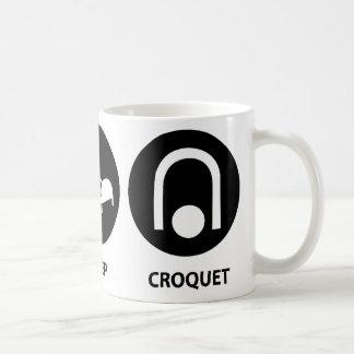 睡眠のCroquetを食べて下さい コーヒーマグカップ