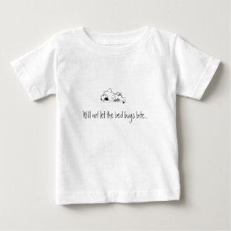 睡眠のkeeshond ベビーTシャツ