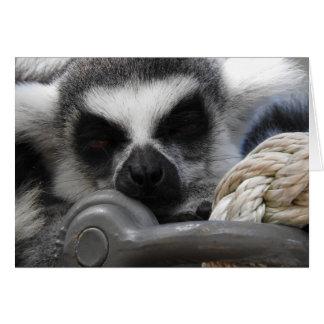 睡眠のLemurの挨拶状 カード