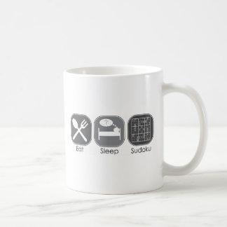 睡眠のSudokuのコピーを食べて下さい コーヒーマグカップ