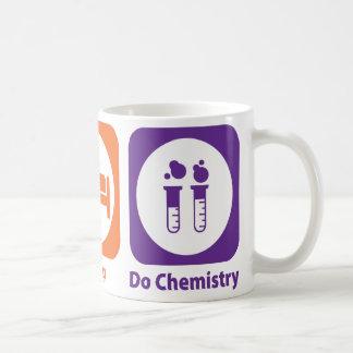 睡眠をします化学を食べて下さい コーヒーマグカップ