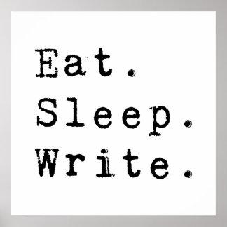 睡眠を書きます食べて下さい ポスター