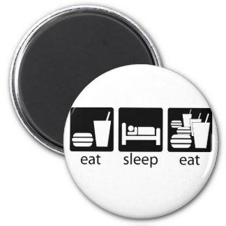 睡眠を食べますもう少しを食べて下さい マグネット