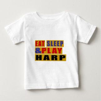睡眠を食べ、ハープを演奏して下さい ベビーTシャツ