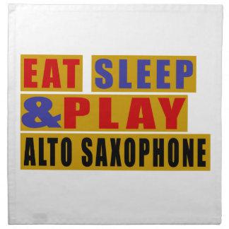 睡眠を食べ、ALTOサクソフォーンを演奏して下さい ナプキンクロス
