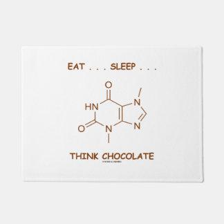 …睡眠を…考えますチョコレートテオブロミンを食べて下さい ドアマット