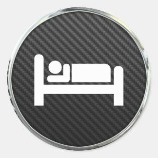 睡眠アイコン ラウンドシール