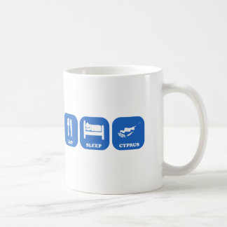 睡眠キプロスを食べて下さい コーヒーマグカップ