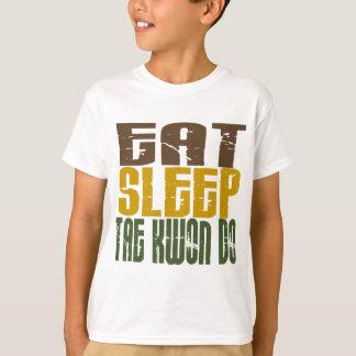 睡眠テコンドー1を食べて下さい Tシャツ