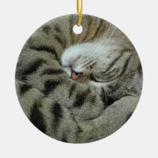 睡眠トラ猫 セラミックオーナメント