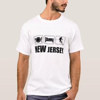 睡眠ニュージャージーを食べて下さい Tシャツ