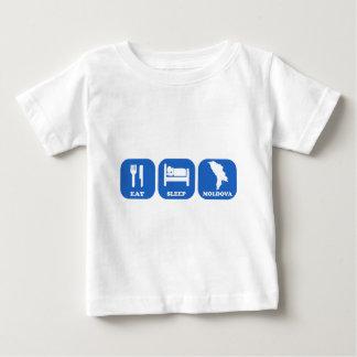 睡眠モルドバを食べて下さい ベビーTシャツ