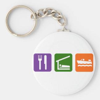 睡眠モーター船遊びを食べて下さい キーホルダー