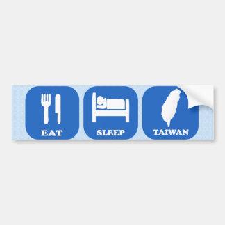 睡眠台湾を食べて下さい バンパーステッカー