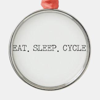 睡眠周期を食べて下さい メタルオーナメント