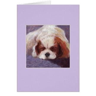 睡眠犬 グリーティングカード