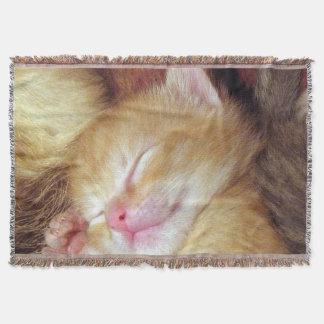睡眠猫のブランケット スローブランケット