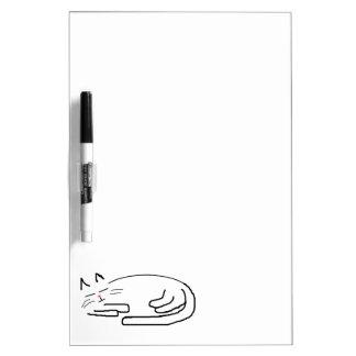 睡眠猫の落書き ホワイトボード