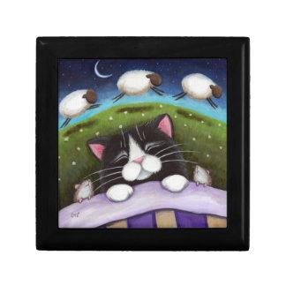 睡眠猫及びネズミ|のファンタジーの芸術の装身具のギフト用の箱 ギフトボックス