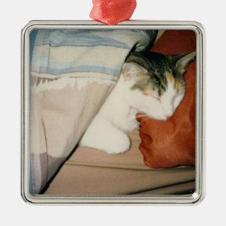 睡眠猫 メタルオーナメント