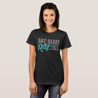 睡眠礁を食べて下さい Tシャツ