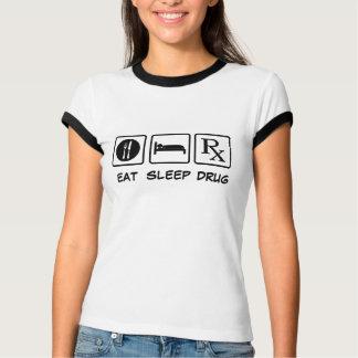 睡眠薬剤を食べて下さい Tシャツ