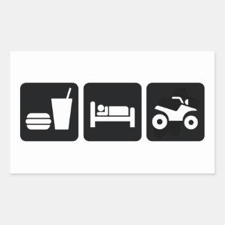 睡眠ATVを食べて下さい 長方形シール