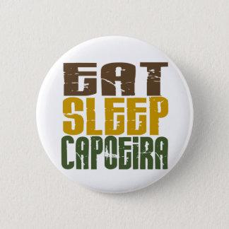 睡眠Capoeira 1を食べて下さい 5.7cm 丸型バッジ