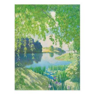睡眠CC0623の郵便はがきのN.C. Wyeth River ポストカード