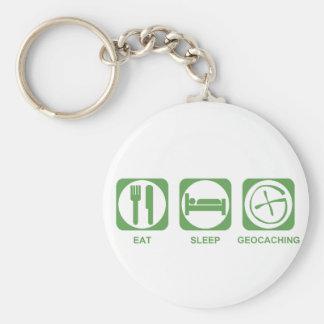 睡眠Geocachingを食べて下さい キーホルダー