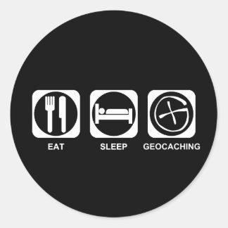 睡眠Geocachingを食べて下さい ラウンドシール