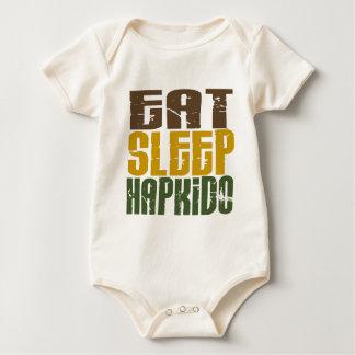睡眠Hapkido 1を食べて下さい ベビーボディスーツ