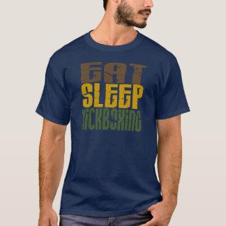 睡眠Kickboxing 1を食べて下さい Tシャツ