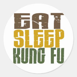 睡眠Kung Fu 1を食べて下さい ラウンドシール