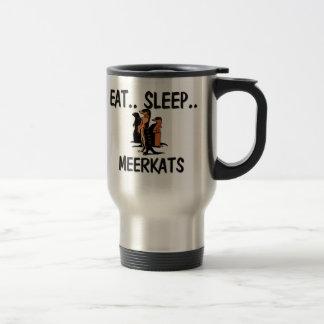 睡眠MEERKATSを食べて下さい トラベルマグ