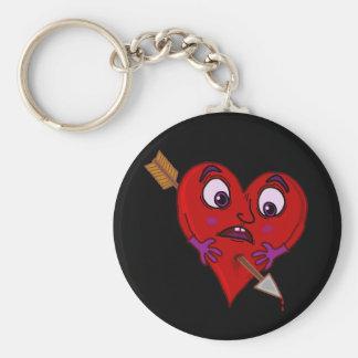 矢とのおもしろいなバレンタインのハート キーホルダー