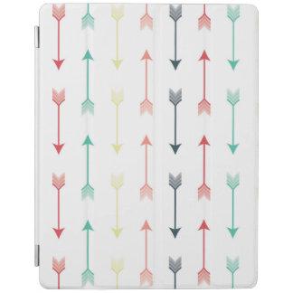 矢のカラフルなおもしろいモダンなパターン虹 iPadスマートカバー