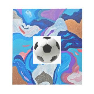 矢のサッカーボール ノートパッド