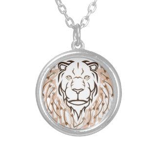 矢のライオン シルバープレートネックレス