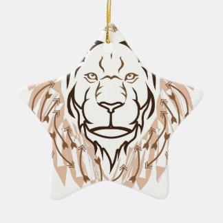矢のライオン セラミックオーナメント