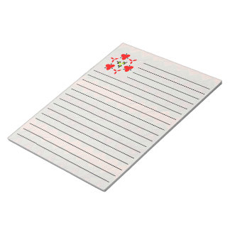 矢の形のカラフルなパターン ノートパッド
