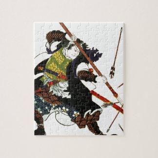 矢の日本人の日本芸術を逸らしているRoninの武士 ジグソーパズル