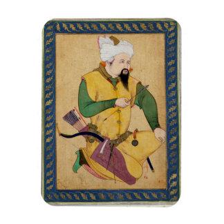 矢を、から握っているトルコマン人またはモンゴル人の責任者 マグネット