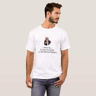 知らされていない意見 Tシャツ