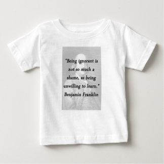 知らないですがあります-ベンジャミン・フランクリン ベビーTシャツ
